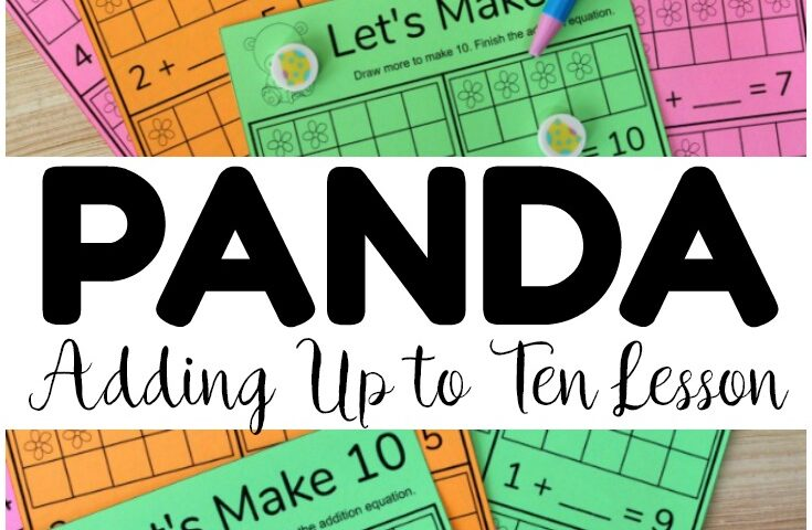 Adding to Make Ten Worksheets: Panda Make Ten!