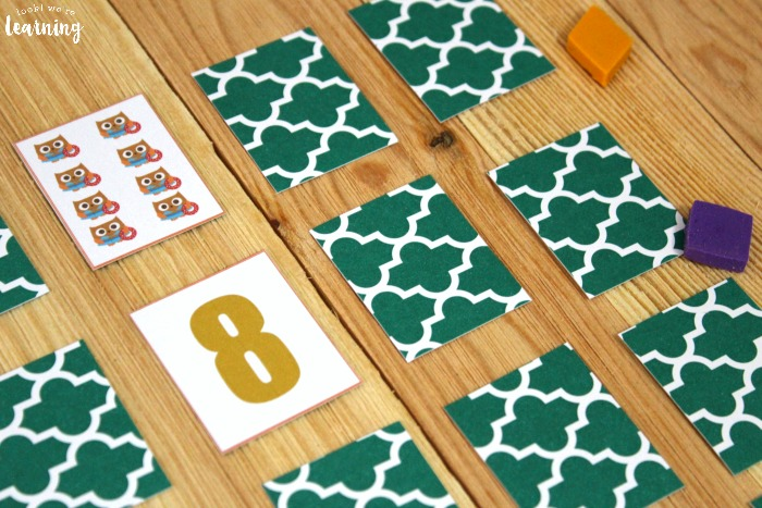 Owl Number Matching Game for Kids