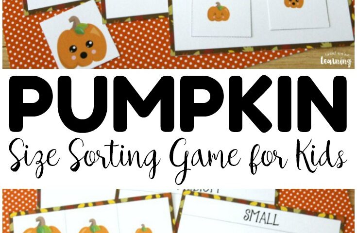 Pumpkin Preschool Size Sorting Game
