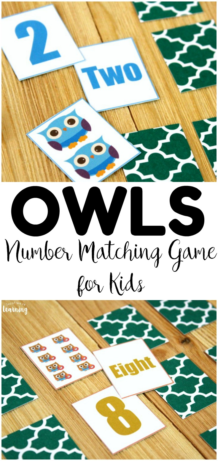 Practice counting, numeral recognition, and number word recognition with this fun owl number matching game! Great for fall math centers!