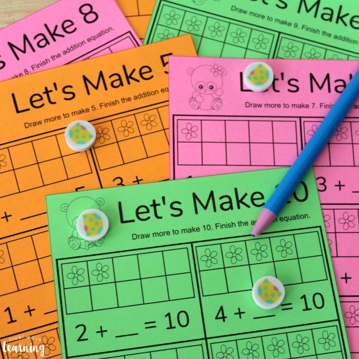 Printable Make Ten Addition Worksheets
