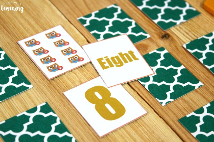 Printable Owl Number Matching Game