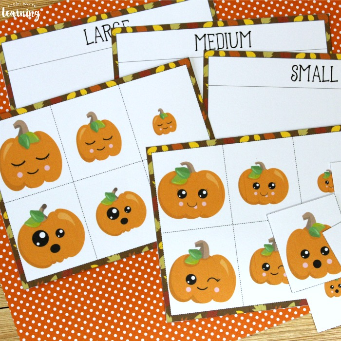 Printable Size Sorting Game for Kids