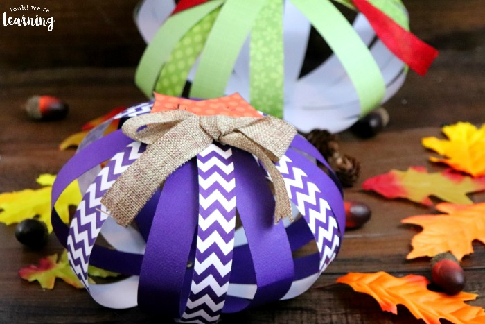 Scrapbook Paper Pumpkin Craft for Kids