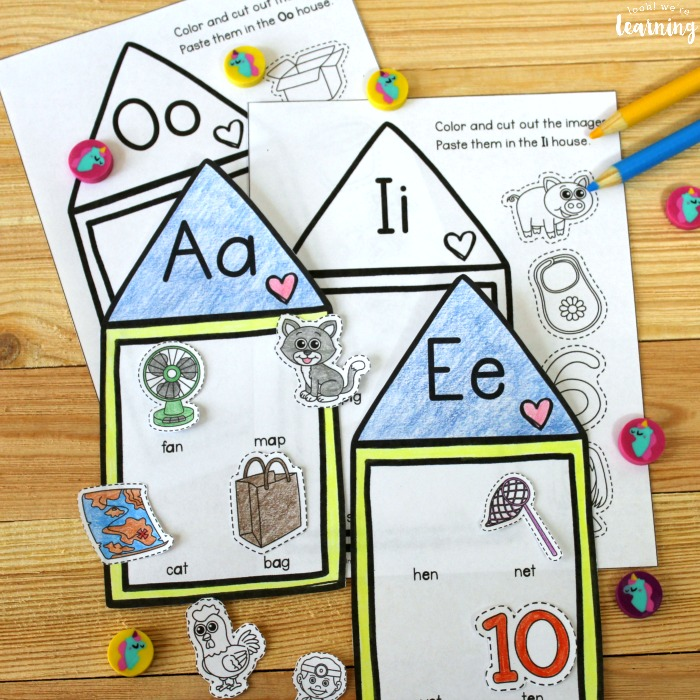 Short Vowel Sound Houses Activity