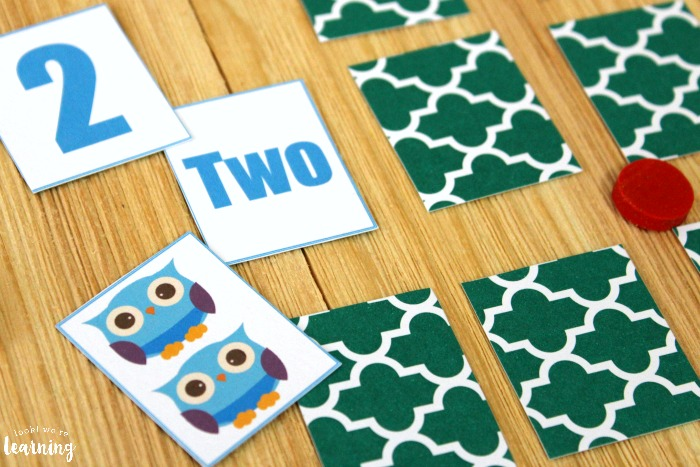 Simple Owl Number Matching Game for Kids