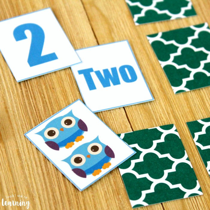Simple Owl Number Matching Game
