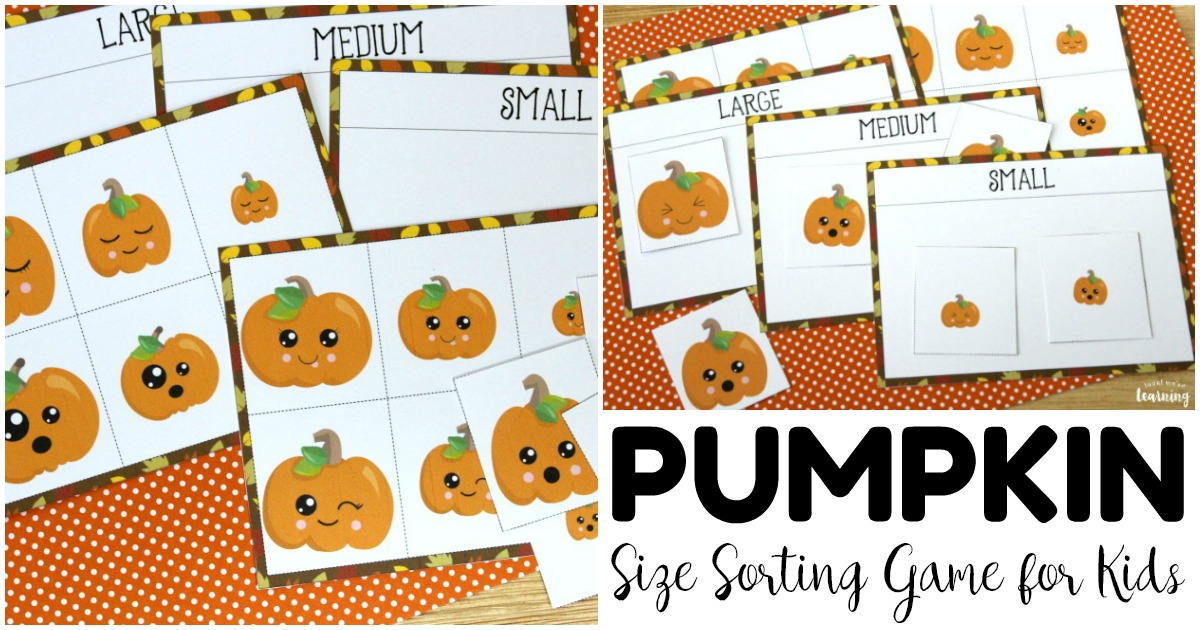 Simple Pumpkin Size Sorting Game for Kids