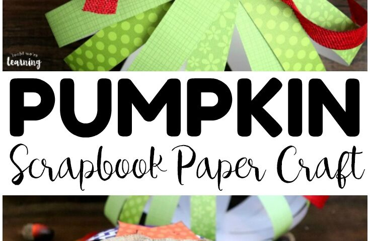 Easy Scrapbook Paper Pumpkin Craft