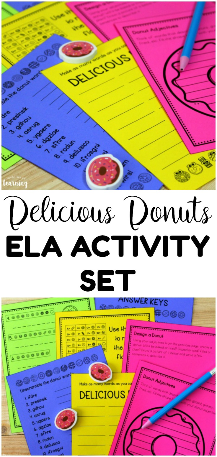 This delicious donuts themed ELA activity set is so fun for practicing parts of speech with early elementary grades!