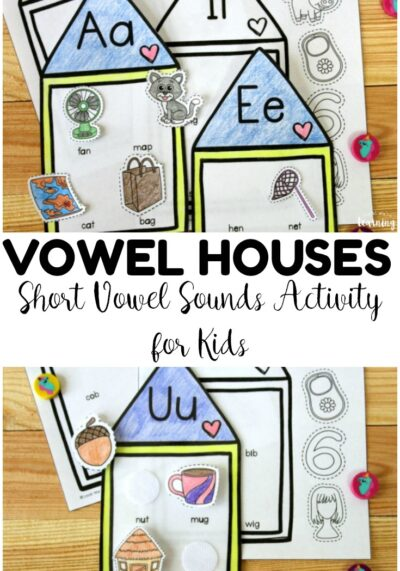 This hands on short vowel sounds activity is so fun for building early phonics skills! Add it to your literacy centers for engaging phonics practice!