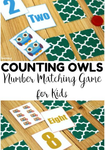 This low prep owl number matching game is a fun way to practice number skills at early math centers!