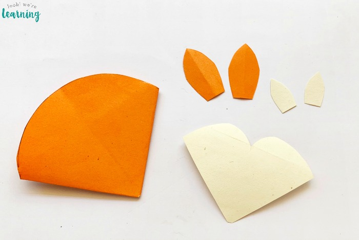 Assembling an Origami Fox Corner Bookmark Craft