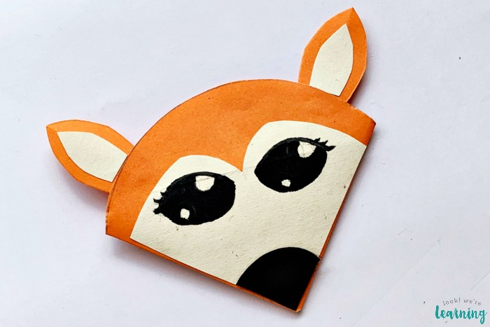 Cute DIY Origami Fox Corner Bookmark