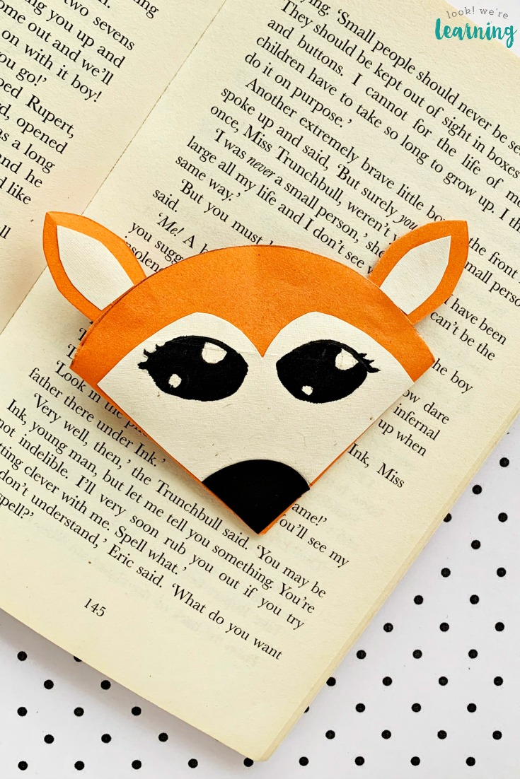 DIY Origami Fox Bookmark Craft for Kids