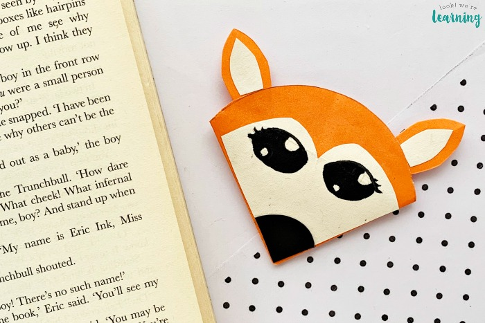 DIY Origami Fox Bookmark Craft