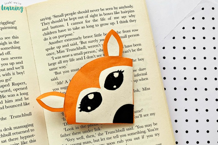 Easy Origami Fox Bookmark Craft for Kids