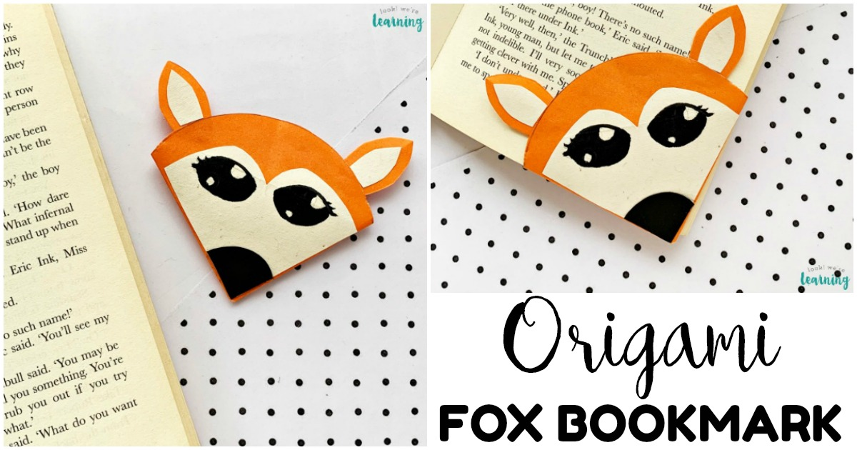 Fun Origami Fox Bookmark Craft for Kids