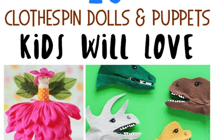 20 Fun Clothespin Puppets for Kids to Make