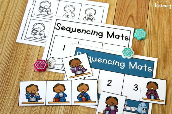 Hot Cocoa Sequencing Mats