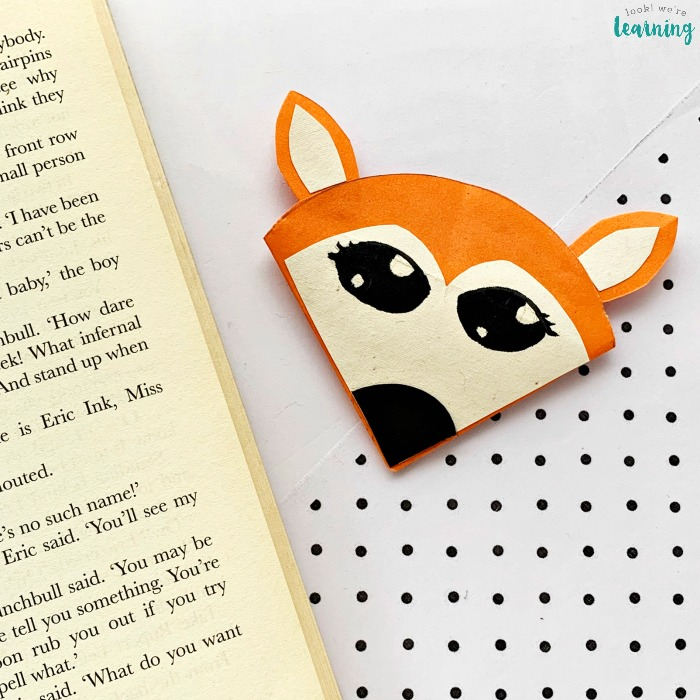 Simple Origami Fox Bookmark Craft
