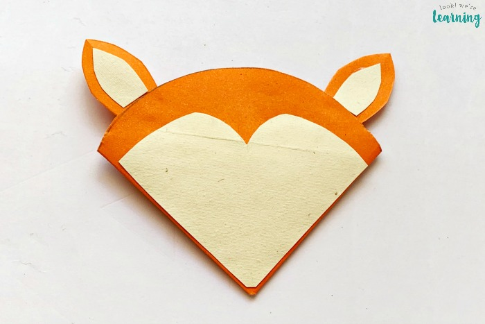 Simple Origami Fox Corner Bookmark