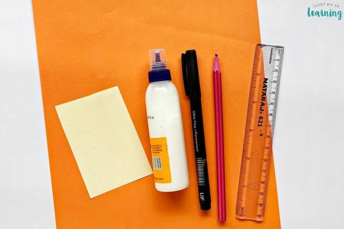 Supplies for Making an Origami Corner Bookmark Craft