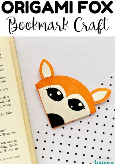This easy origami fox bookmark craft is such a fun paper craft for kids! Make a few with students and use them as reading rewards!