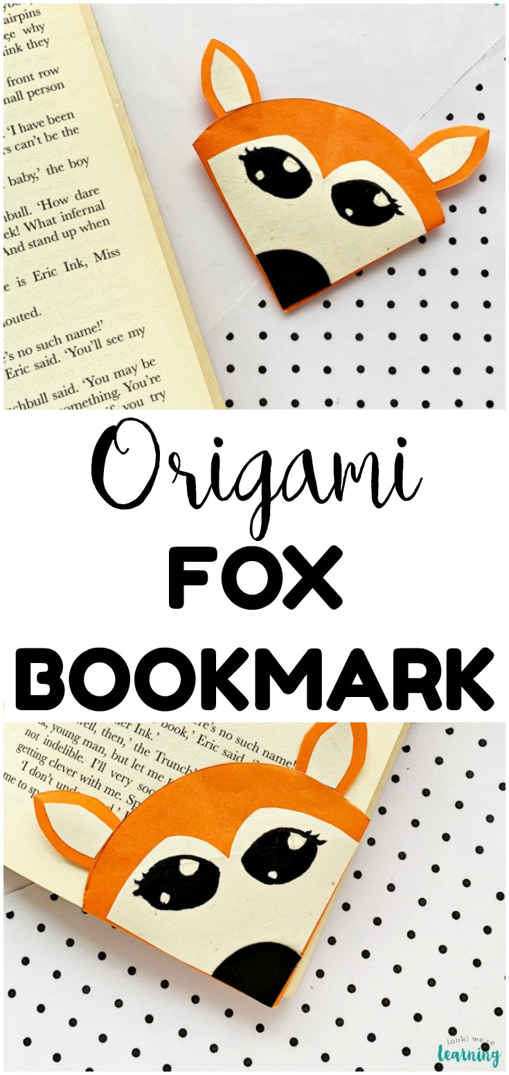This fun and cute origami fox bookmark craft is easy enough for kids to make! A cute DIY gift for bookworms!