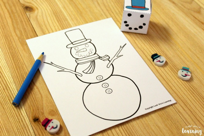 Build A Snowman Winter Art Activity