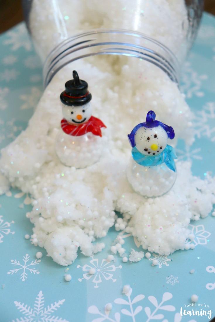 Fluffy Snowman Slime Recipe for Kids