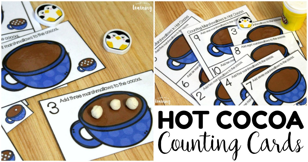 Fun Hot Cocoa 1-10 Counting Cards for Kids