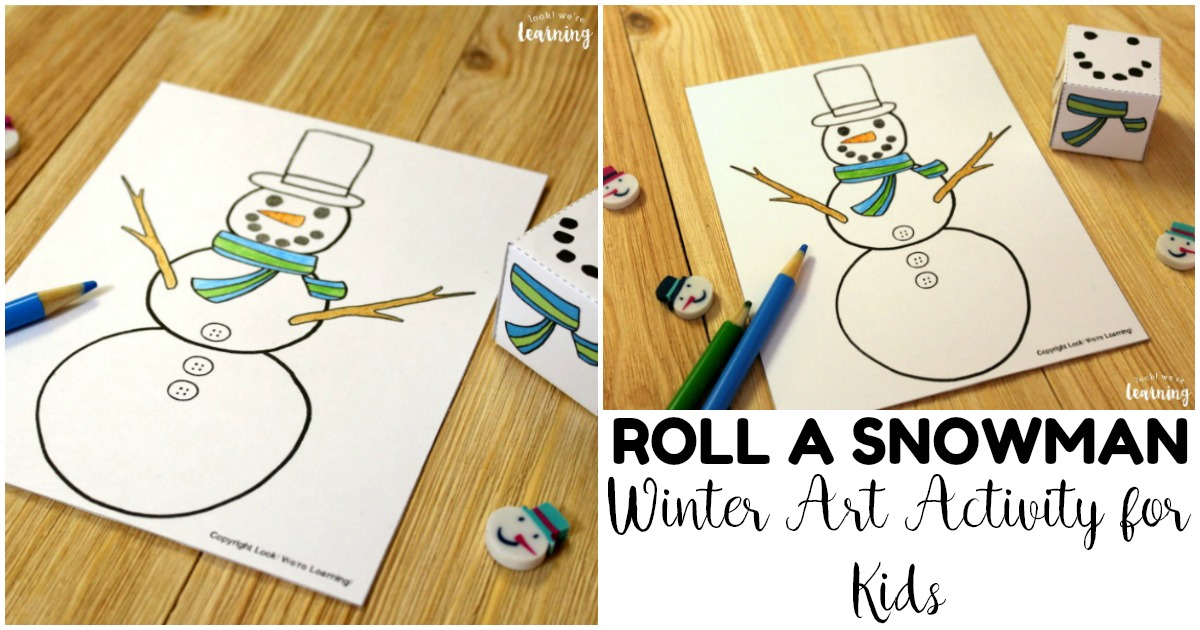 Fun Roll A Snowman Winter Art Activity