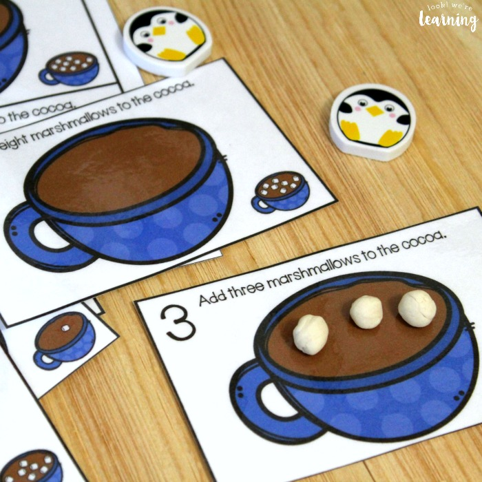 Hot Cocoa 1-10 Counting Cards