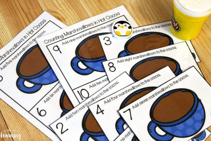 Hot Cocoa Counting 1-10 Cards for Kids