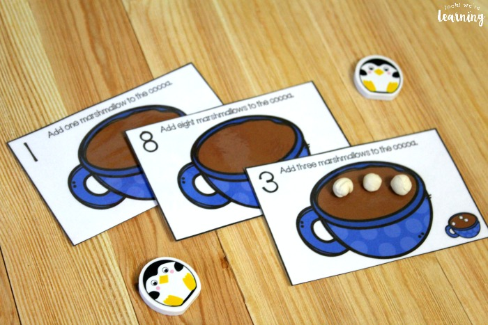 Hot Cocoa Themed 1-10 Counting Cards