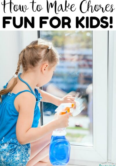 Make cleaning up into fun family time with these tips for how to make chores fun for kids! Simple easy suggestions to help everyone learn to pitch in around the house!