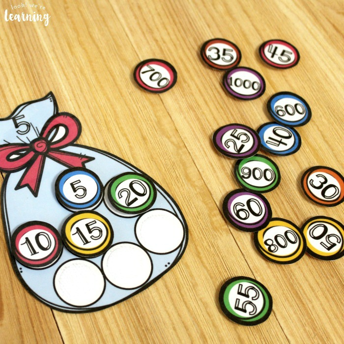 Printable Candy Bag Skip Counting Activity for Second Grade