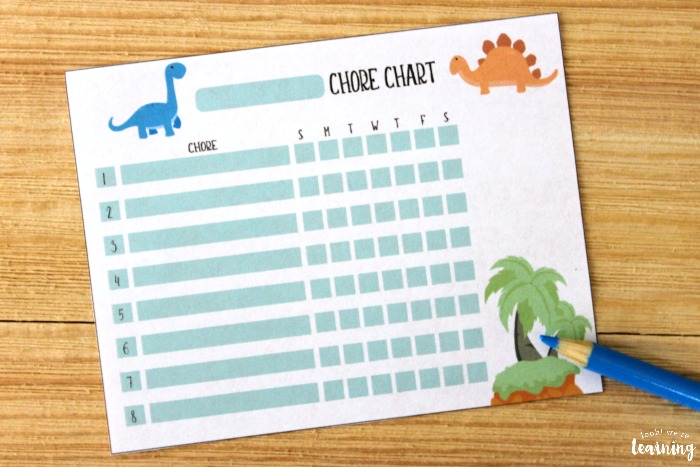 Printable Dinosaur Chore Chart for Kids