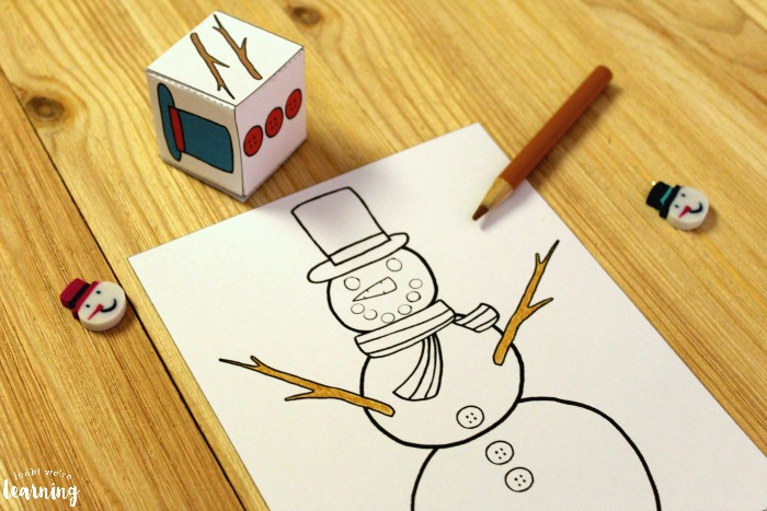 Simple Build A Snowman Winter Art Activity