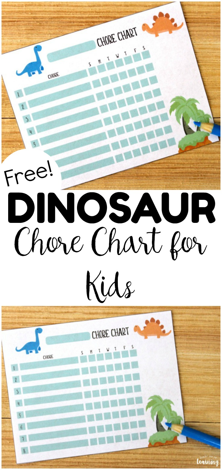 This dinosaur free printable chore chart for kids is a perfect to keep up with weekly chores! Add it to your family command center!