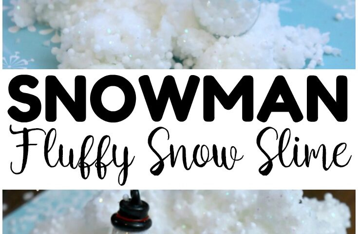 Fluffy Snowman Slime Recipe for Kids