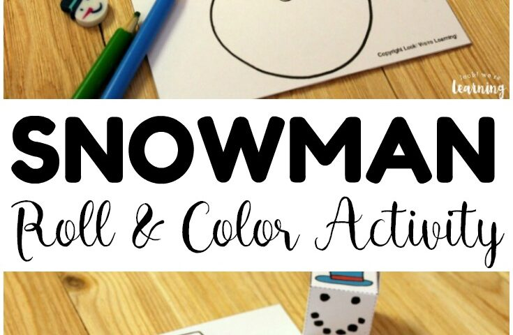 Build A Snowman Winter Art Activity for Kids