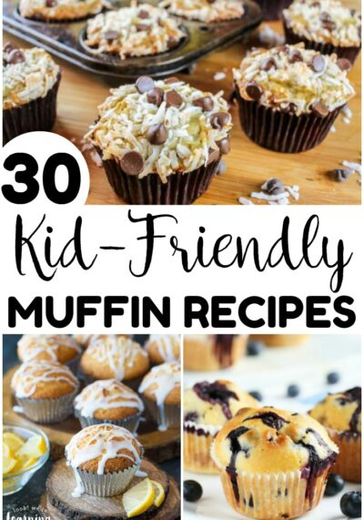 Warm up the kids on cold mornings with these 30 kid friendly muffin recipes! Bake them in advance and freeze for a quick breakfast!