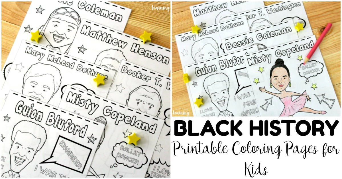 Fun Black History Figure Coloring Pages for Kids