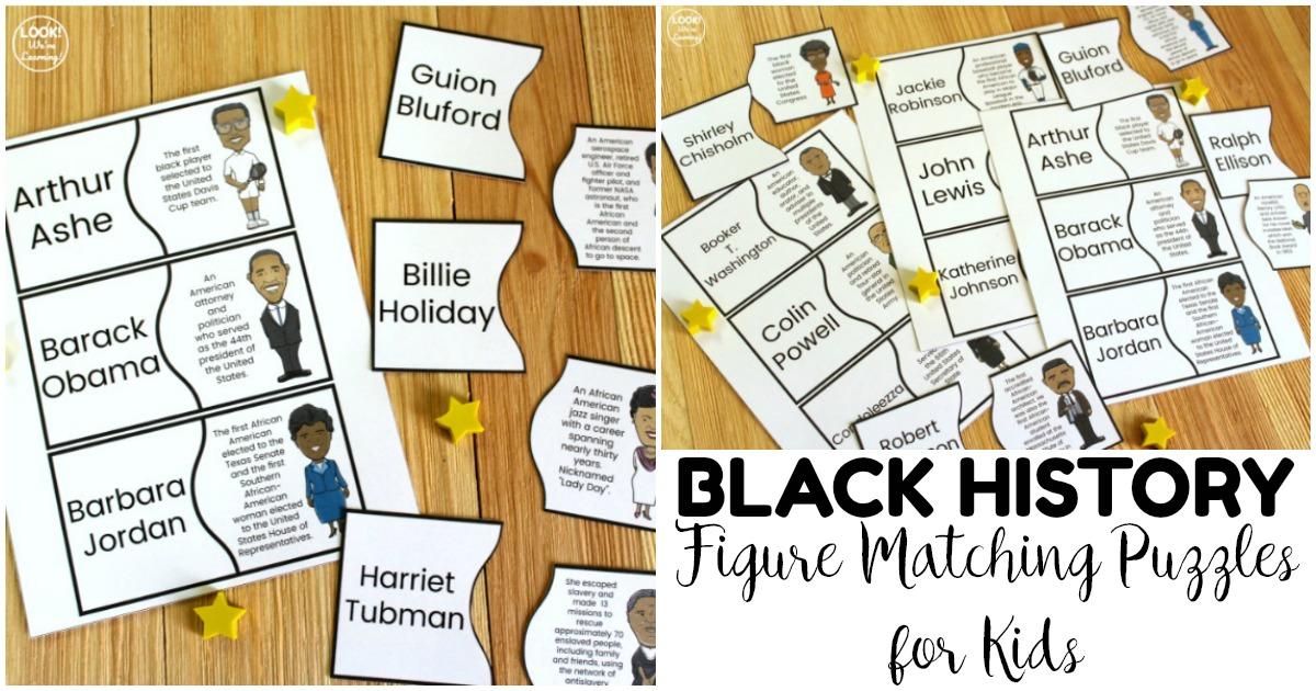 Fun Black History Figure Matching Puzzles