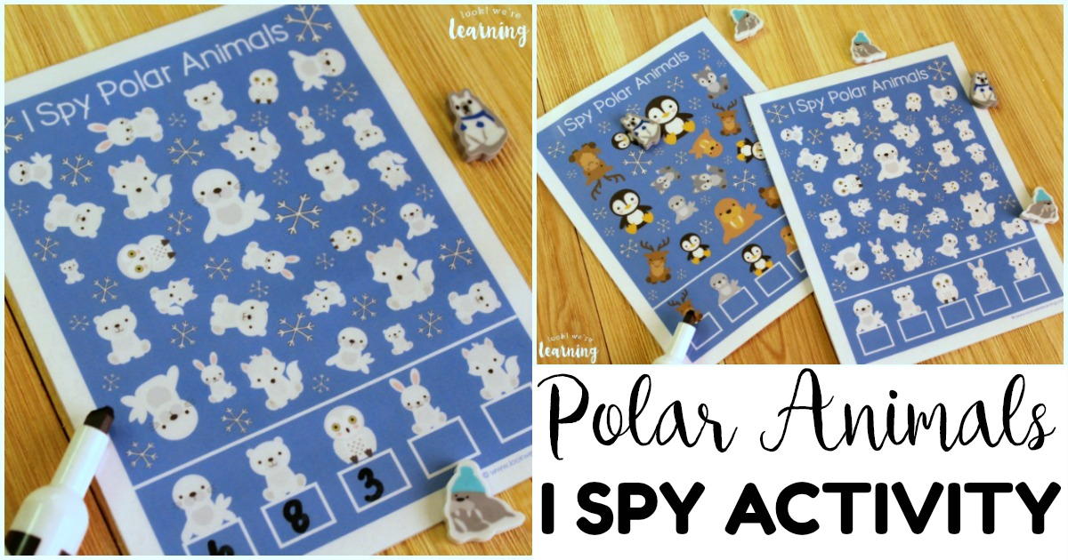 Fun Polar Animal I Spy Activity for Kids