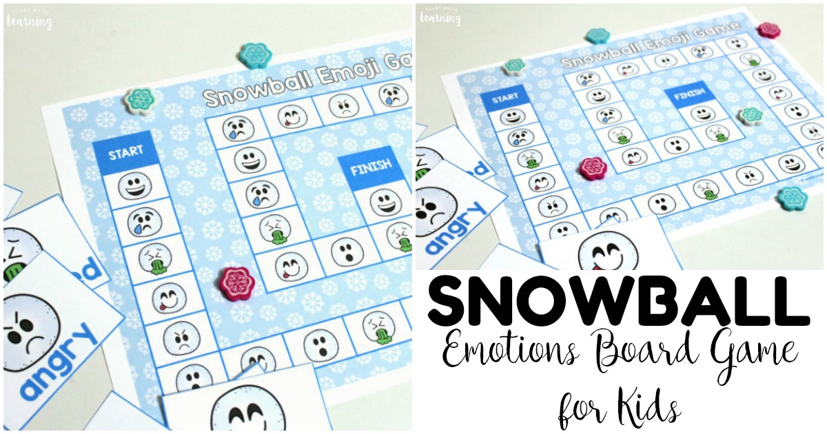 Fun Snowball Emotions Board Game for Kids