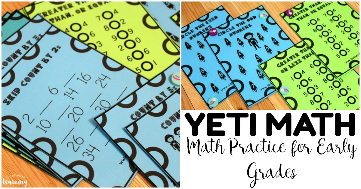 Fun Yeti Math Practice for Early Grades