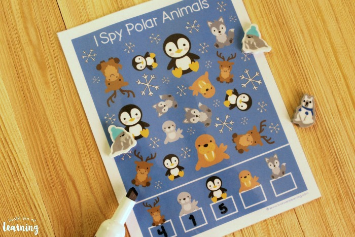 I Spy Polar Animals Activity